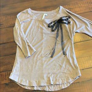 Lauren Conrad brown 3/4 sleeve shirt